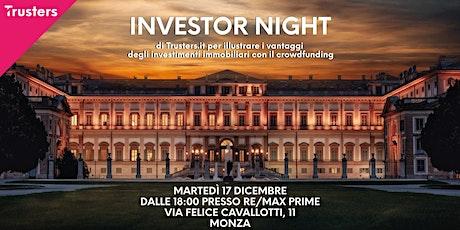Investor Night Monza biglietti
