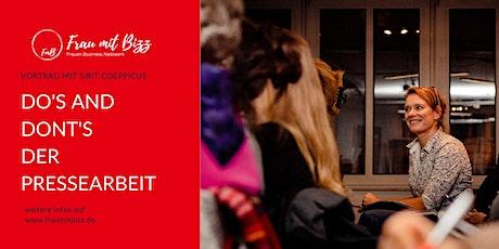 Do's and Dont's der Pressearbeit  | Frau mit Bizz Aachen Tickets