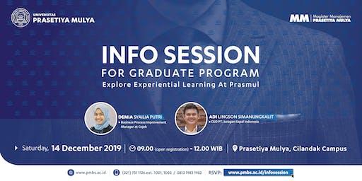 Info Session MM Prasetiya Mulya - Sabtu, 14 Desember 2019