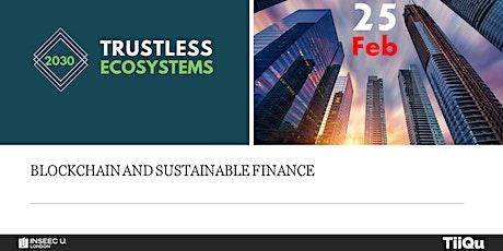 Blockchain and sustainable finance tickets