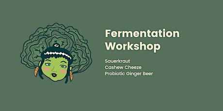 Sauerkraut, cashew cheeze and probiotic ginger beer workshop tickets