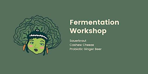 Sauerkraut, cashew cheeze and probiotic ginger beer workshop