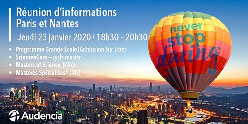 Réunion d'informations Paris -  Audencia
