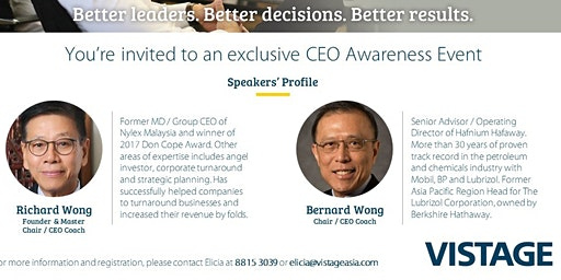 Experience The Power of CEO Peer Advisory Group on 21 January 2019