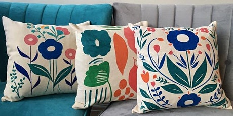 Paint Your Own Cushion (Surface Pattern Design Workshop) tickets
