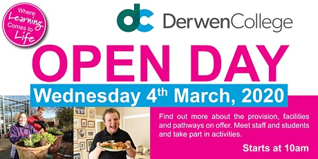 Derwen College Open Day - Weds 4th March 2020 tickets