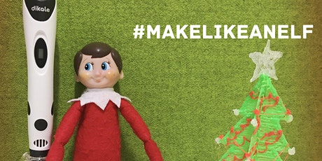 Coleford Library (Innovation Lab) - Make Like an Elf - 3D printed baubles tickets