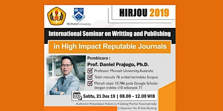 SEMINAR ON WRITTING AND PUBLISHING IN HIGH IMPACT REPUTABLE JOURNALS tickets
