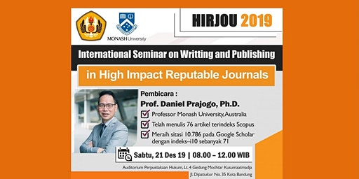 SEMINAR ON WRITTING AND PUBLISHING IN HIGH IMPACT REPUTABLE JOURNALS