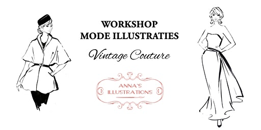 Workshop mode illustraties - thema Vintage Couture