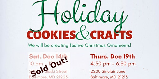Holiday Cookies & Crafts by Elevation Arts