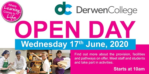 Derwen College Open Day - Wednesday 17th June 2020