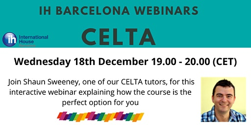 IH Barcelona Webinar: CELTA courses at IH BCN