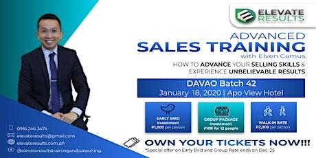 Advanced Sales Training - DAVAO Batch 42 tickets