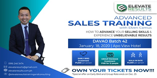 Advanced Sales Training - DAVAO Batch 42