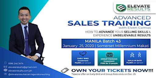Advanced Sales Training - MANILA Batch 43