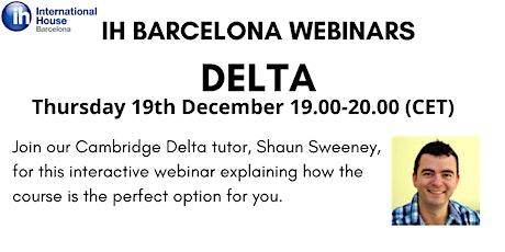 IH Barcelona Webinar: Delta courses at IH BCN tickets
