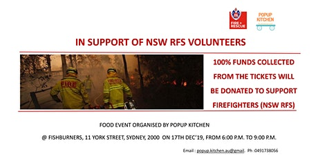Food for cause | Support NSW firefighters tickets