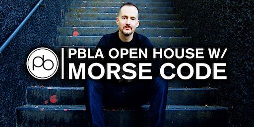 PBLA Open House: DJ Masterclass with Morse Code