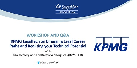 Workshop and Q&A: KPMG LegalTech on Emerging Legal Career Paths tickets
