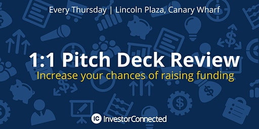 FREE Pitch Deck Review - Increase your chances of attracting investment