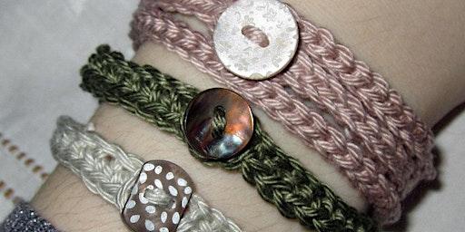 Beginners Crochet | Crocheting in Rows Button Up Bracelets
