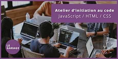 [Quimper] Atelier : Initiation au code - JavaScript / HTML / CSS billets