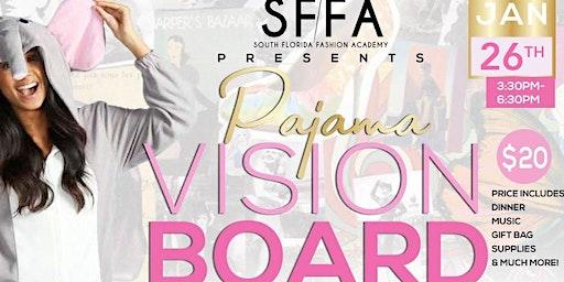 South Florida Fashion Academy's Pajama Vision Board Party