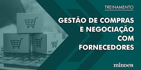 Gestão de Compras e Negociação com fornecedores ingressos