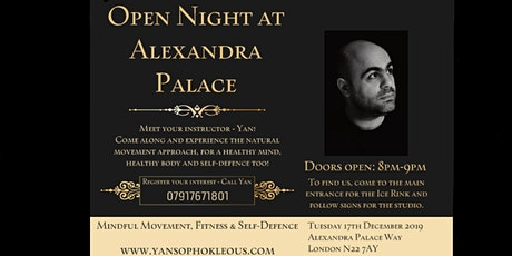 Open night at Alexandra Palace - Meet your Instructor - Yan! tickets
