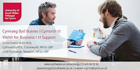 Welsh for Business, 1:1 Support | Cymraeg byd Busnes, Cymorth 1:1 12/02/20 tickets