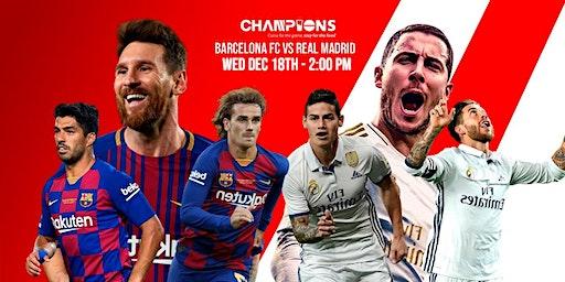 Clásico Barcelona vs Real Madrid