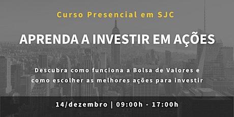 Curso Presencial: Aprenda a Investir em Ações ingressos