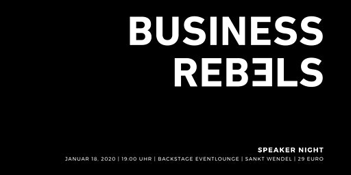 Business Rebels - Speaker Night