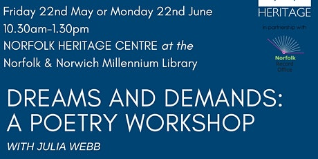 Dreams and Demands: a Poetry Workshop with Julia Webb  tickets