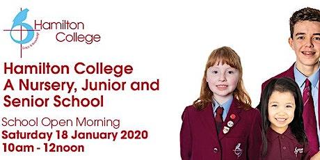 Hamilton College Open Morning 2020 tickets