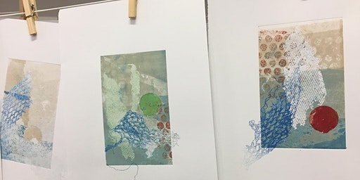 Combine Monoprinting and Stencil Printmaking with Diane Chatterton- Hyam