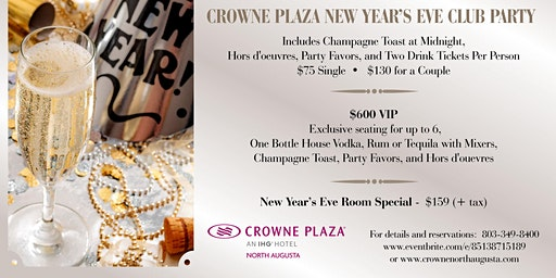 New Year's Eve at Crowne Plaza North Augusta
