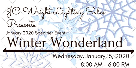 JC Wright Lighting Sales Presents: January 2020 Specifier Event! tickets