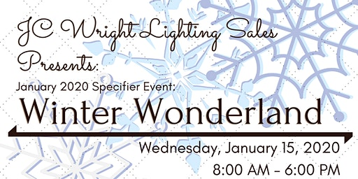 JC Wright Lighting Sales Presents: January 2020 Specifier Event!