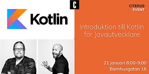 Introduktion till Kotlin för Javautvecklare