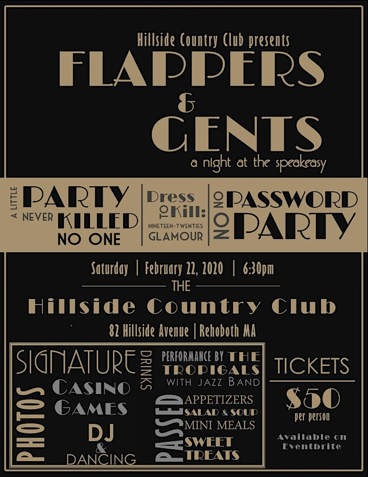 Flappers & Gents: a night at the speakeasy image