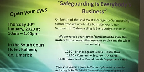 'Open Your Eyes' - Safeguarding is Everybody's Business tickets