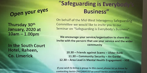 'Open Your Eyes' - Safeguarding is Everybody's Business