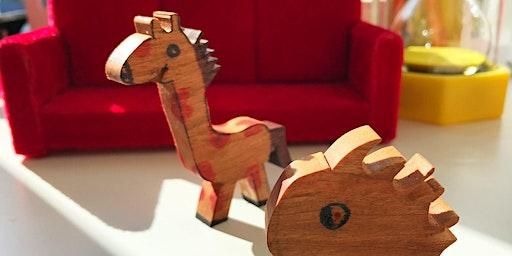 Half term, Kids - Make your own wooden animals, age 7+