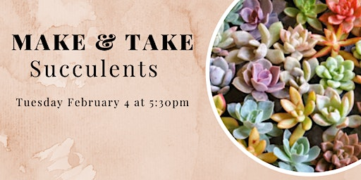 Make and Take Tuesday Workshops: Succulents