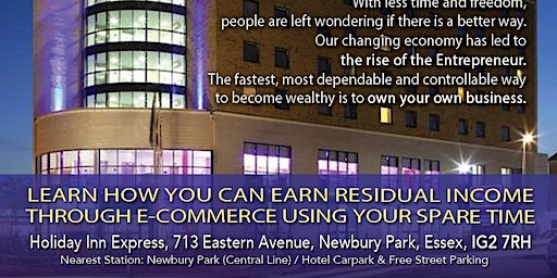 Learn how you can EARN RESIDUAL INCOME