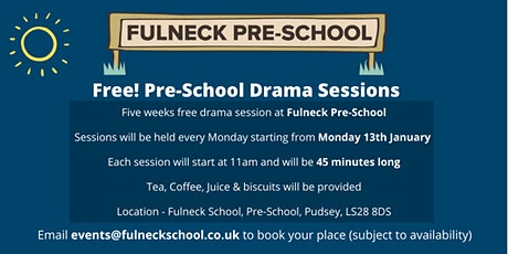 Free! Pre-School Drama Sessions tickets