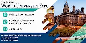 The Renown World Uni Expo @ Suntec Fri 10 Jan Level 3...