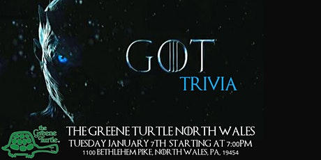 Game of Thrones Trivia at The Greene Turtle North Wales tickets